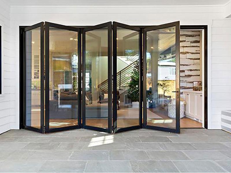 Large accordion patio door