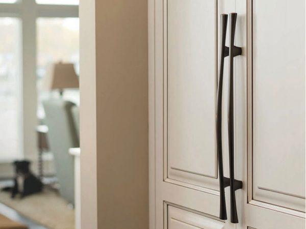 kitchen cabinet with Belwith-Keeler door pulls