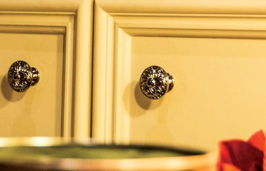 cabinets with RK International decorative hardware