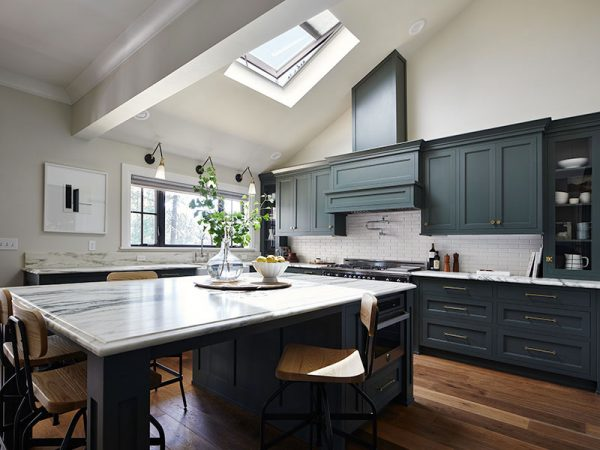 Velux skylight in kitchen