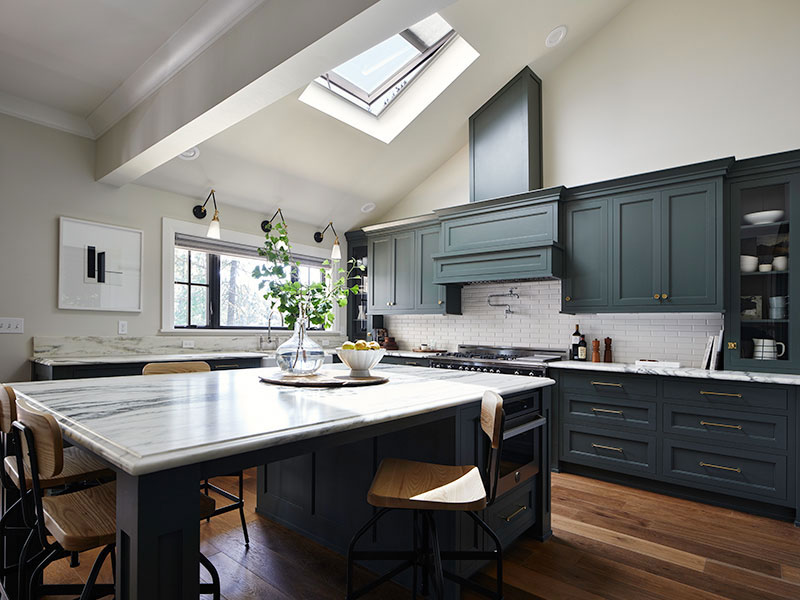 Velux skylight in kitchen