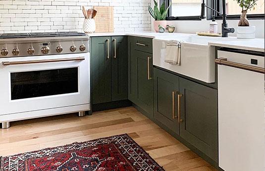 kitchen with beautiful decorative hardware