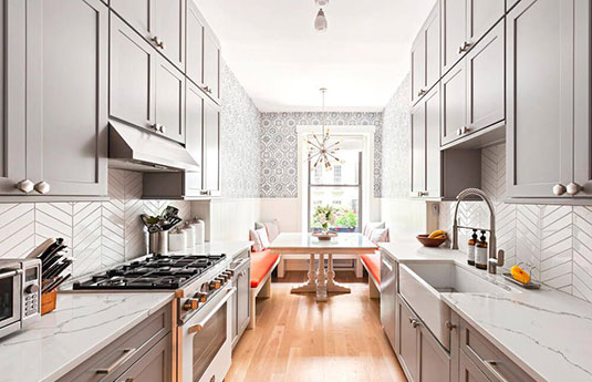 kitchen with lovely cabinet pulls