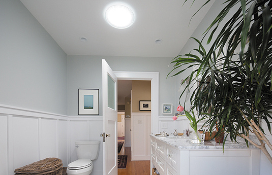 bathroom with Solatube skylight