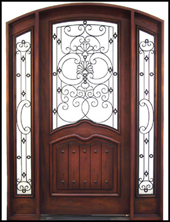 custom front door made by Handcrafted Millworks